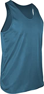 product image for TR-903-CB Men's Athletic Single Ply Solid Color Light Weight Track Singlet (XX-Large, Columbia)