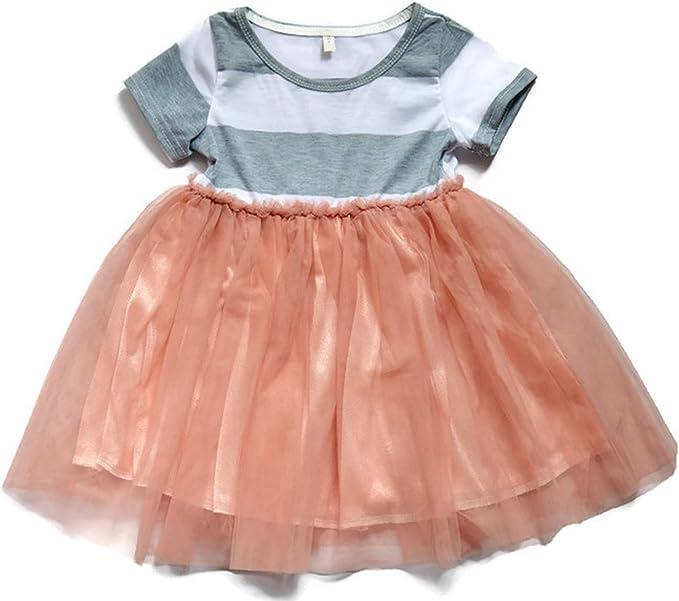 Vestido niña con falda de tul rosa: Amazon.es: Ropa y accesorios