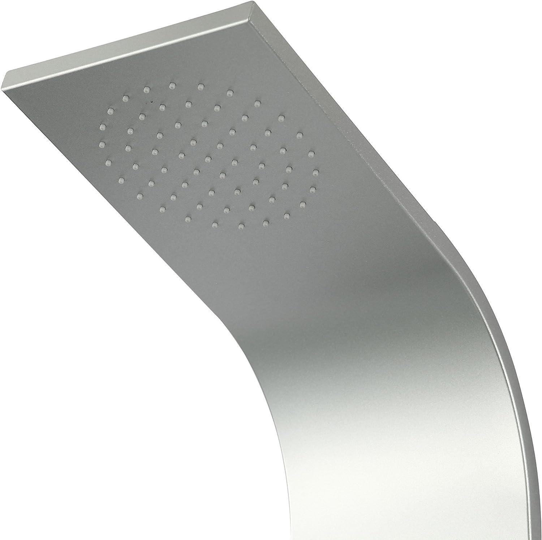 DP Grifería - Columna de ducha, hidromasaje (aluminio), color plata, modelo Mykonos: Amazon.es: Bricolaje y herramientas