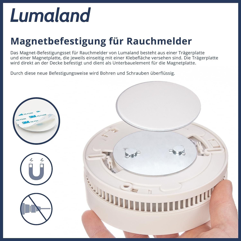 Lumaland Base de montaje magnetico para detectores de humo 4 piezas: Amazon.es: Industria, empresas y ciencia