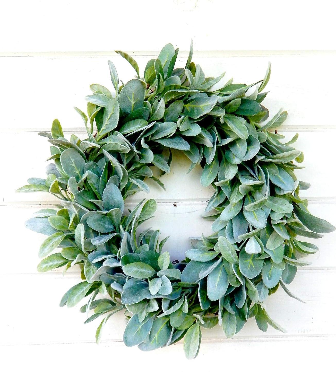 Eucalyptus Summer Wreath Spring Wreath Farmhouse Wreath Lambs Ear
