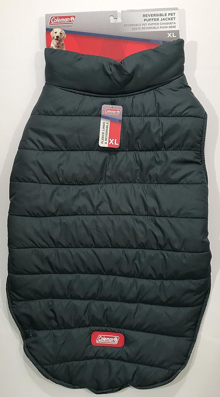 Amazon.com : Coleman Reversible Pet Puffer Jacket (Large, Blue) : Pet Supplies