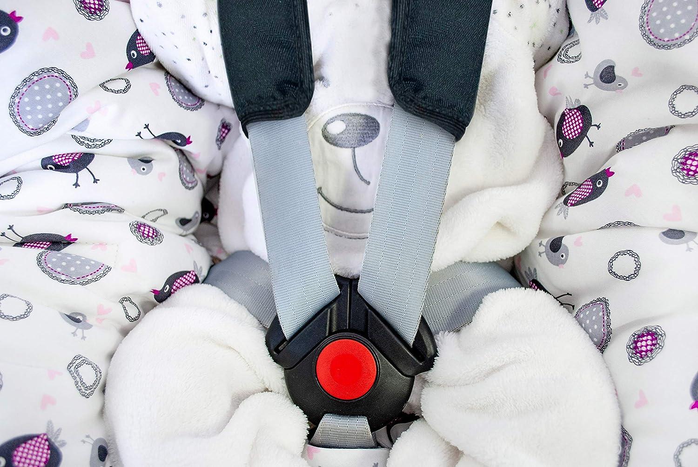 Farben Winterdecken Einschlagdecke XL f/ür die Babyschale Fu/ßsack f/ür k/ühlere und kalte Tage in verschiedenen Farben von HOBEA-Germany bordeauxrot mit Federn