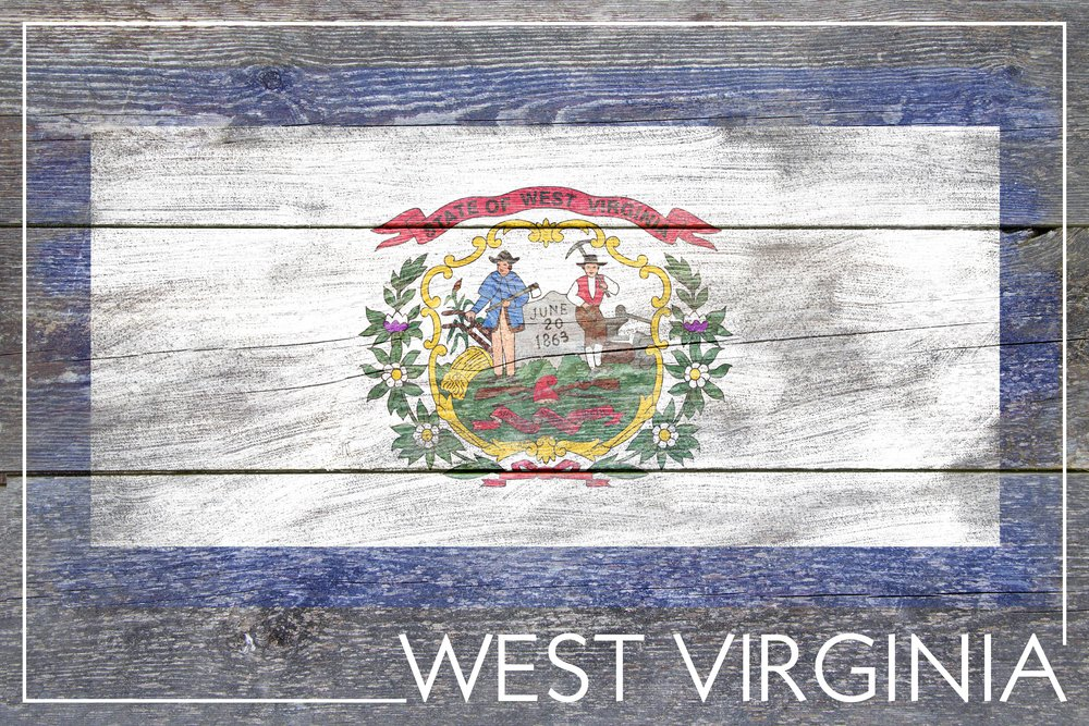 素朴なWest Virginia State Flag 36 x 54 Giclee Print LANT-52578-36x54 B017E9YSOI  36 x 54 Giclee Print