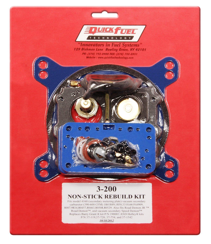 Quick Fuel Technology 3-200 Non Stick Rebuild Kit for 4160 Style Carburetor