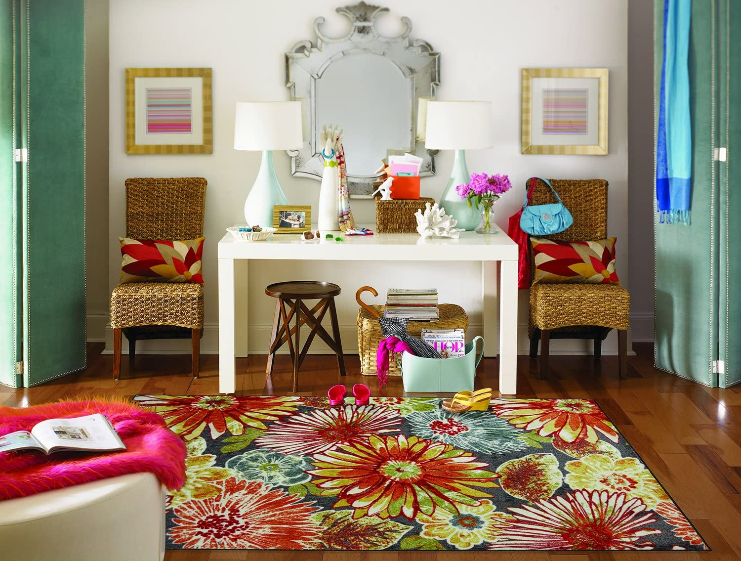 Mohawk Home New Wave Charm Floral Printed Area Rug, 7'6x10', Multicolor