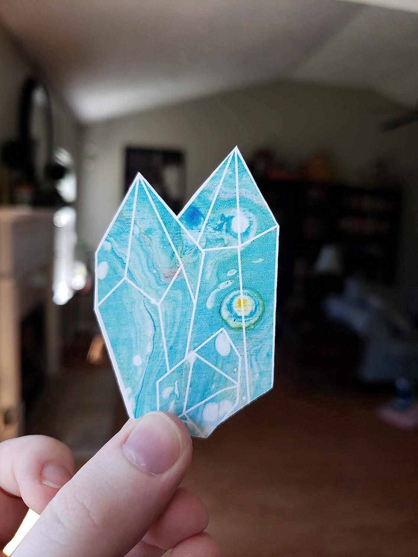 Blue Fluid Art Weatherproof Sticker