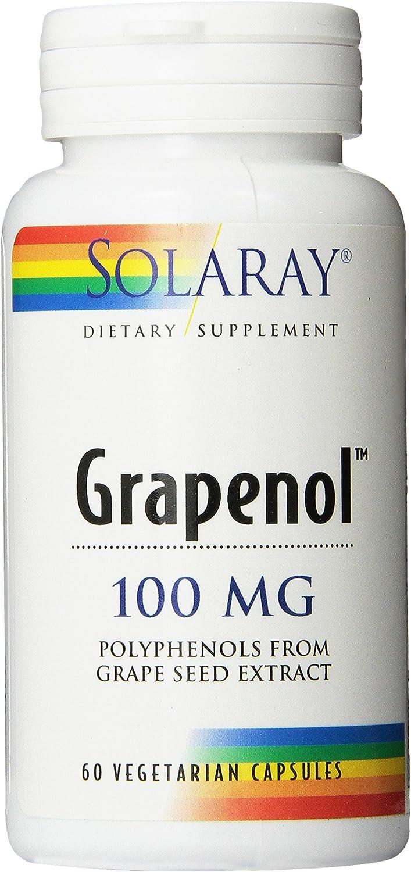 Solaray Grapenol Capsules, 100 mg, 60 Count