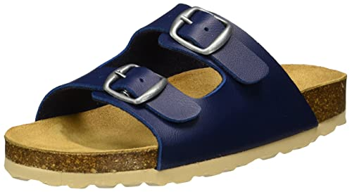 Lico Bioline Clog Kids Blu Pantofole Sandali Sughero Fibbia Regolabile