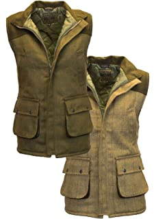 c2ab0561 Walker & Hawkes - Mens Tweed Shooting Waistcoat Country Gilet with Shoulder  Patch