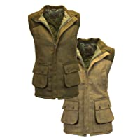 Walker & Hawkes - Mens Tweed Shooting Waistcoat Country Gilet with Shoulder Patch