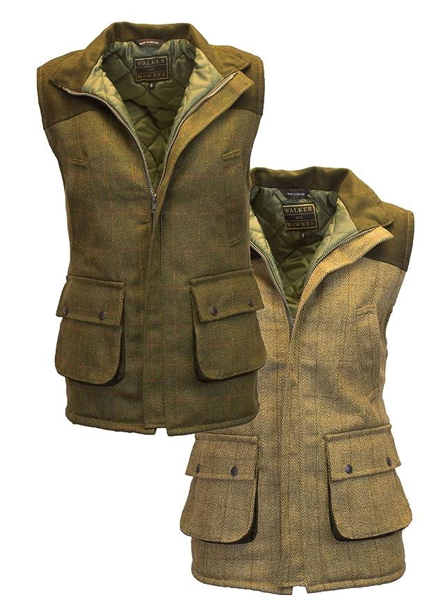 1 opinioni per Walker & Hawkes – Gilet in tweed da caccia, giacca da uomo con toppe alle spalle