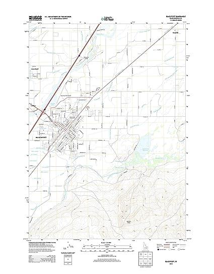 Amazon Com Topographic Map Poster Blackfoot Id Tnm Geopdf 7 5x7
