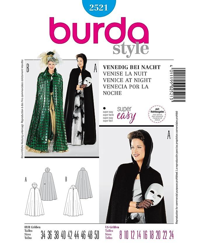 Burda 2521 Schnittmuster Kostüm Fasching Karneval Venedig (Damen, Gr ...