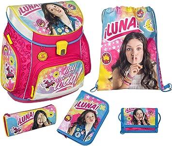 Undercover Mochila Escolar con Estuche Escolar, Bolsa para Zapatos, Estuche y Bolsa para el Pecho, Disney Soy Luna, 5 Piezas, 40 cm, Rosa (Rosa) - 10011502: Amazon.es: Equipaje