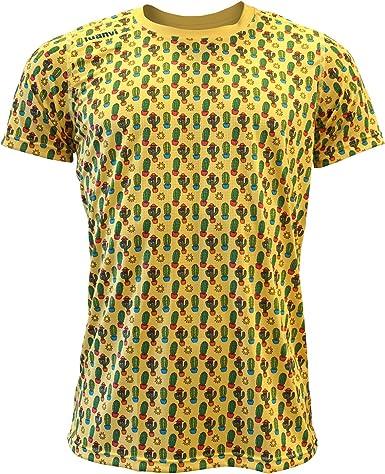 Luanvi Edición Limitada Camiseta técnica Cactus, Hombre, Amarilla, XL (56-73cm)