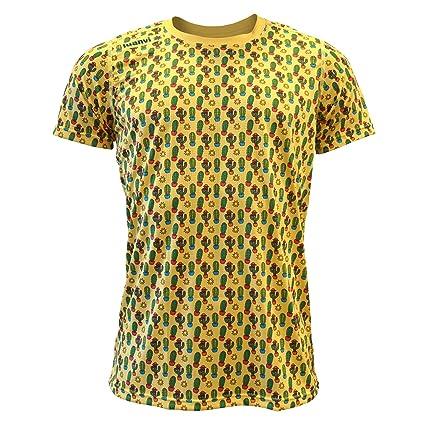 Luanvi Edición Limitada Camiseta técnica Cactus, Hombre, Amarilla, L (52-70cm