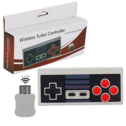 Wireless Turbo Controller for NES Classic Edition, Perfectmall Video Game Gamepads Classic Gaming Turbo Wireless