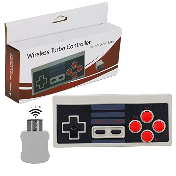 Wireless Turbo Controller for NES Clic Edition, Perfectmall Video Game on