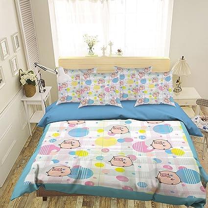 Amazon Com 3d Pink Pig Cute Pattern 44 Bedding Pillowcases Quilt