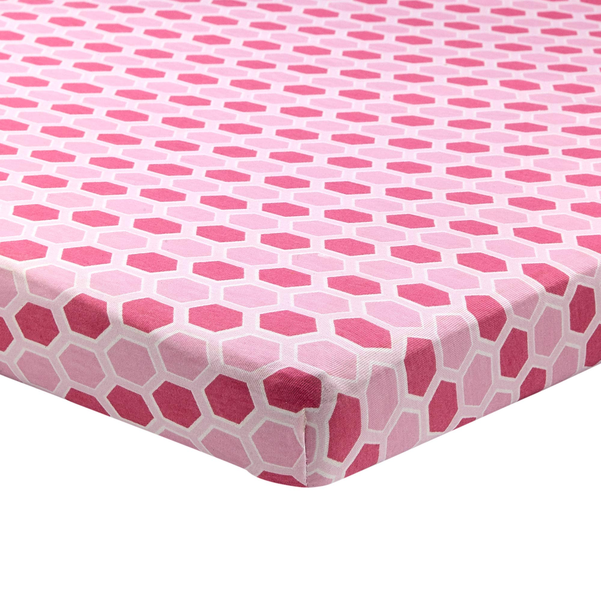 Amazon Com Abstract Fitted Crib Sheet For Mini And