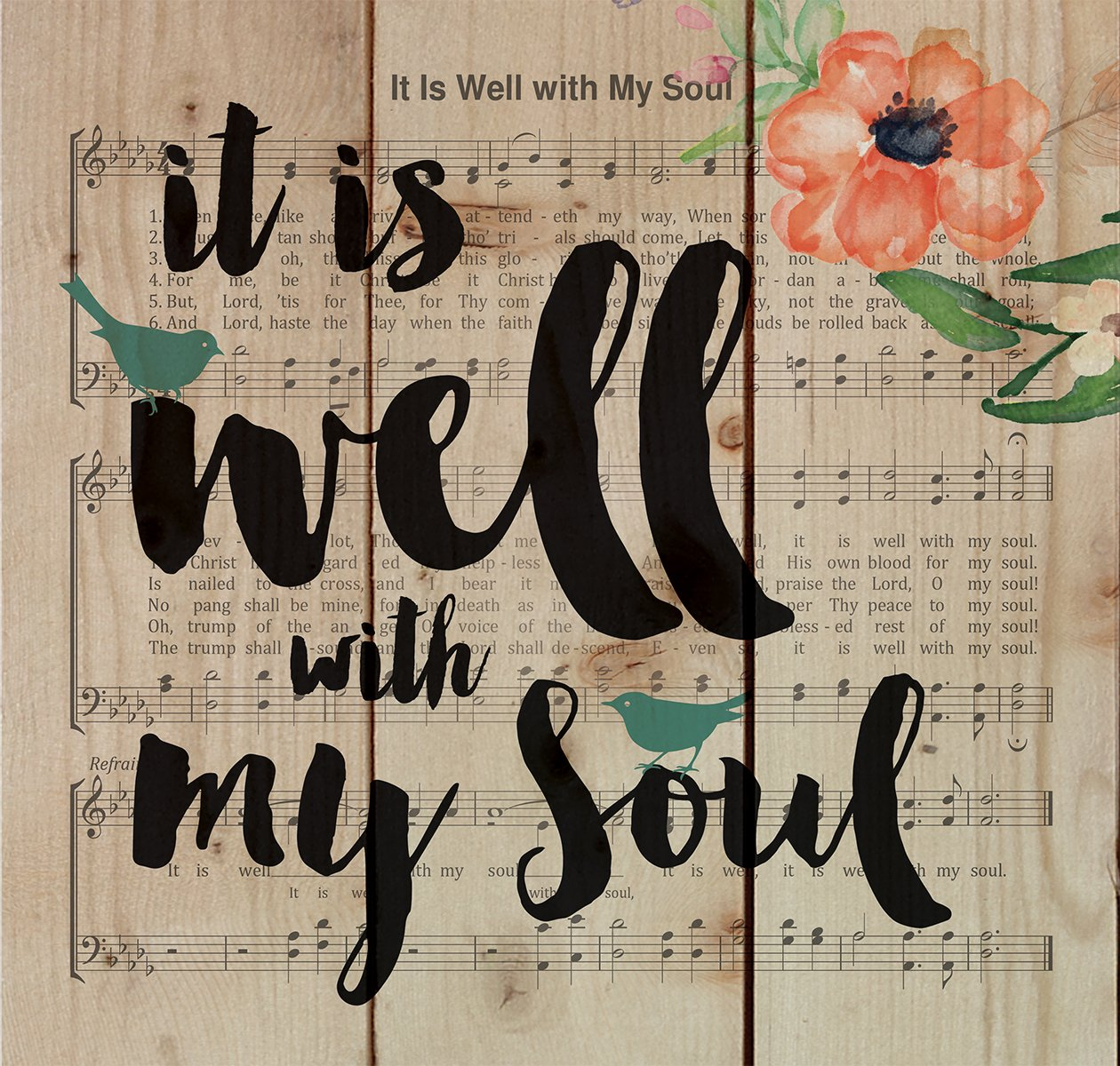 It is Well with My Soul music plaque