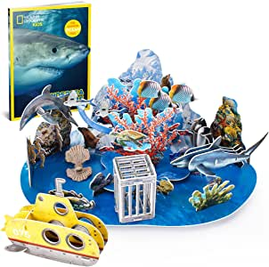 Amazon.com: CubicFun National Geographic 3D Kids Ocean ...