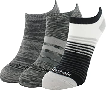 Reebok rayas Mix No Show calcetines 3 Pack, gris: Amazon.es: Deportes y aire libre