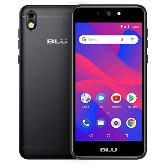 BLU Advance 5 2 HD - GSM Unlocked Smartphone with Android Oreo -Black