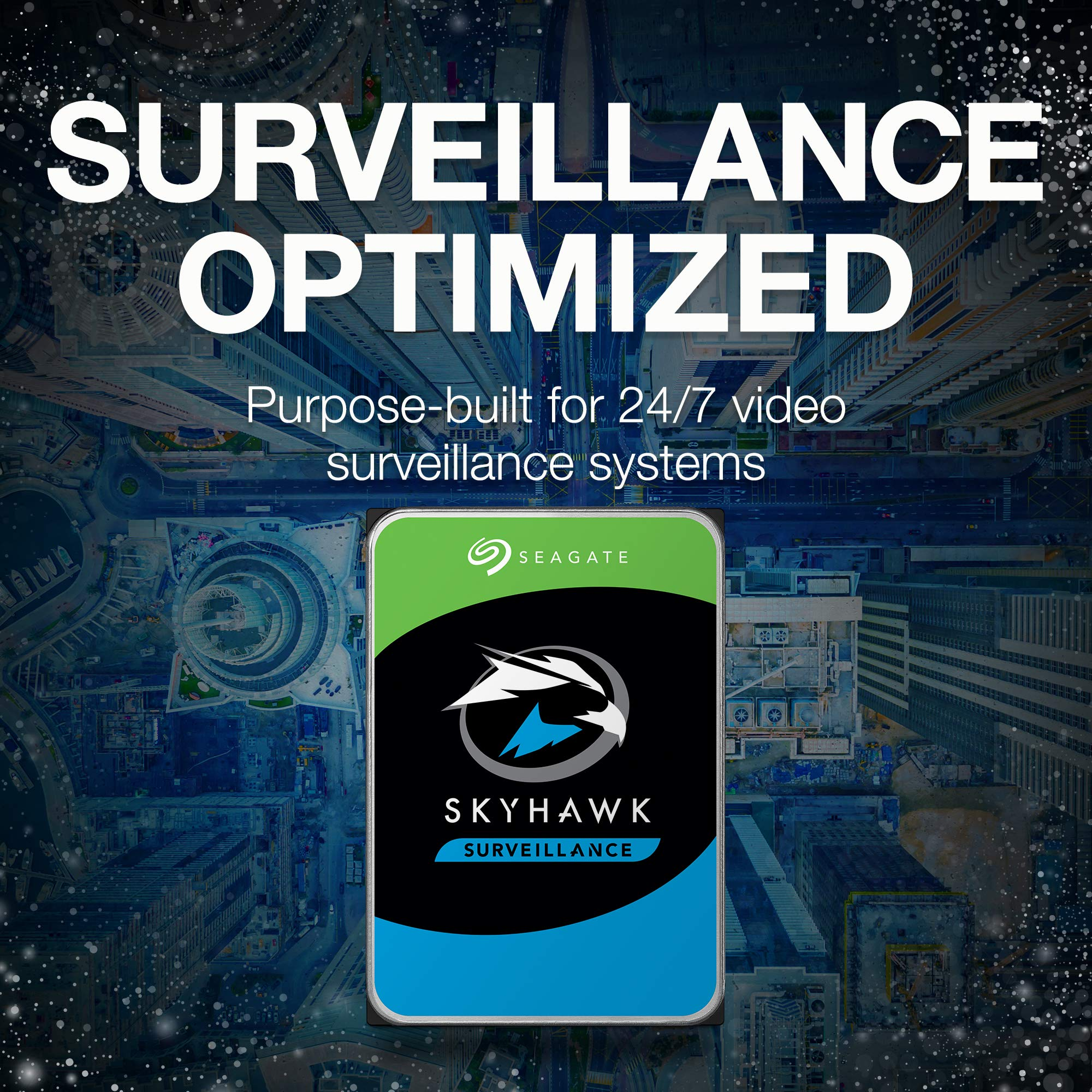 Seagate Skyhawk 6TB Surveillance Internal Hard Drive HDD - 3.5 Inch SATA 6GB/s 256MB Cache for DVR NVR Security Camera System with Drive Health Management - Frustration Free Packaging (ST6000VX001) by Seagate (Image #3)