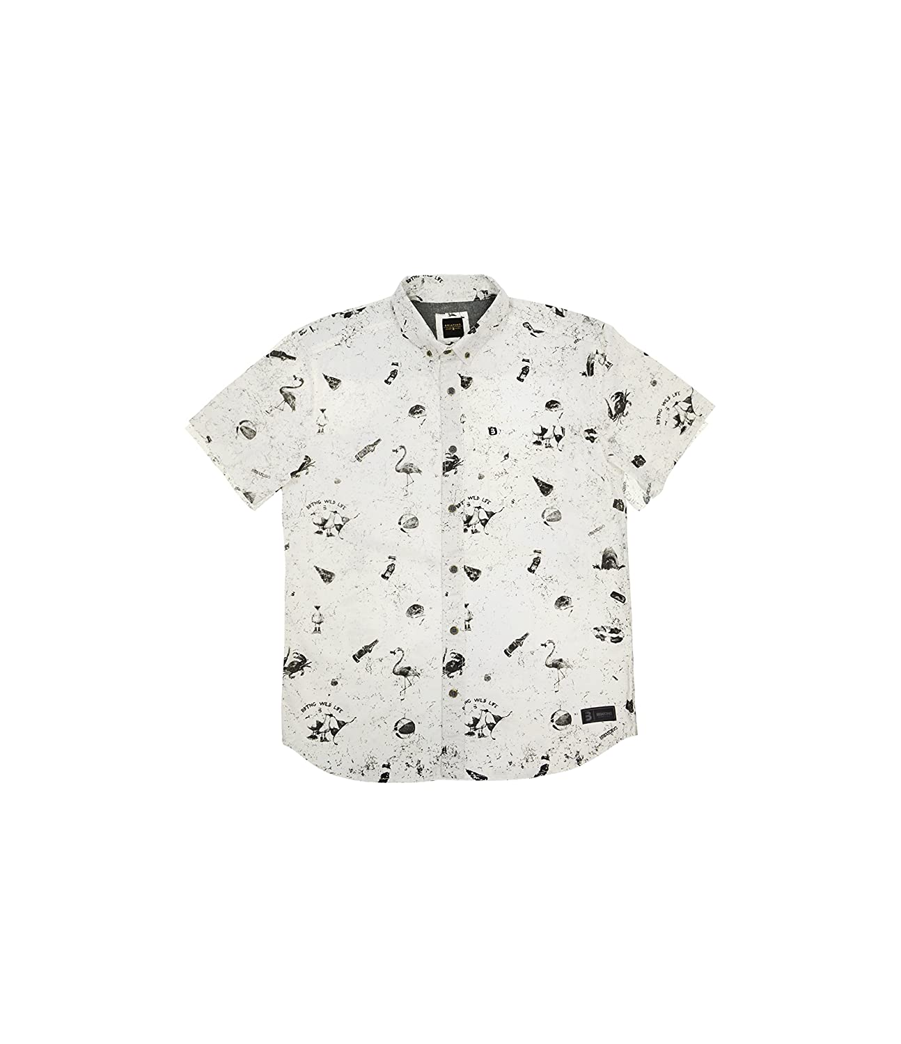 Slim Fit Briatong Primary Button up 100/% Premium Cotton Made in Peru Short Sleeve