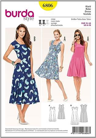 Burda Schnittmuster Kleid 6806: Amazon.de: Küche & Haushalt