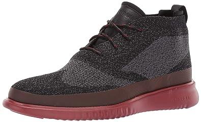 bd95de6b693 Cole Haan Men's 2.Zerogrand Stitchlite Chukka Water Resistant Boot,  Black/Magnet Knit