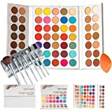 Beauty Glazed Gorgeous Me Eyeshadow Palette Pigmented Professional Makeup Pallet Long Lasting Eye Makeup Set 63 Colors…