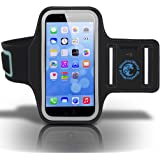 iPhone 6/6s Armband for Running, Biking, Walking, Jogging, Gym and Other Workouts - Superb Comfort, Sublime Fit, Very Durable Sports Case from Blue Key World - Enhance Your Exercise Experience!