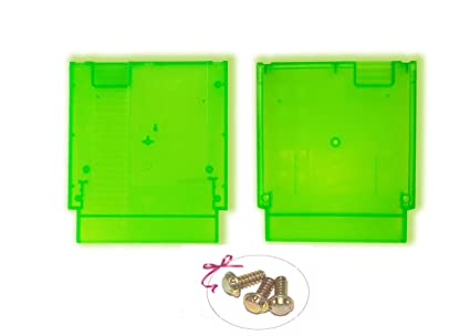 Childhood Clear Green Hard Case Cartridge Shell Replacement For NES  Entertainment System With 3pcs Security Screws