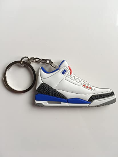 Amazon.com: Jordan Retro 3 True Blue Sneaker llavero zapatos ...