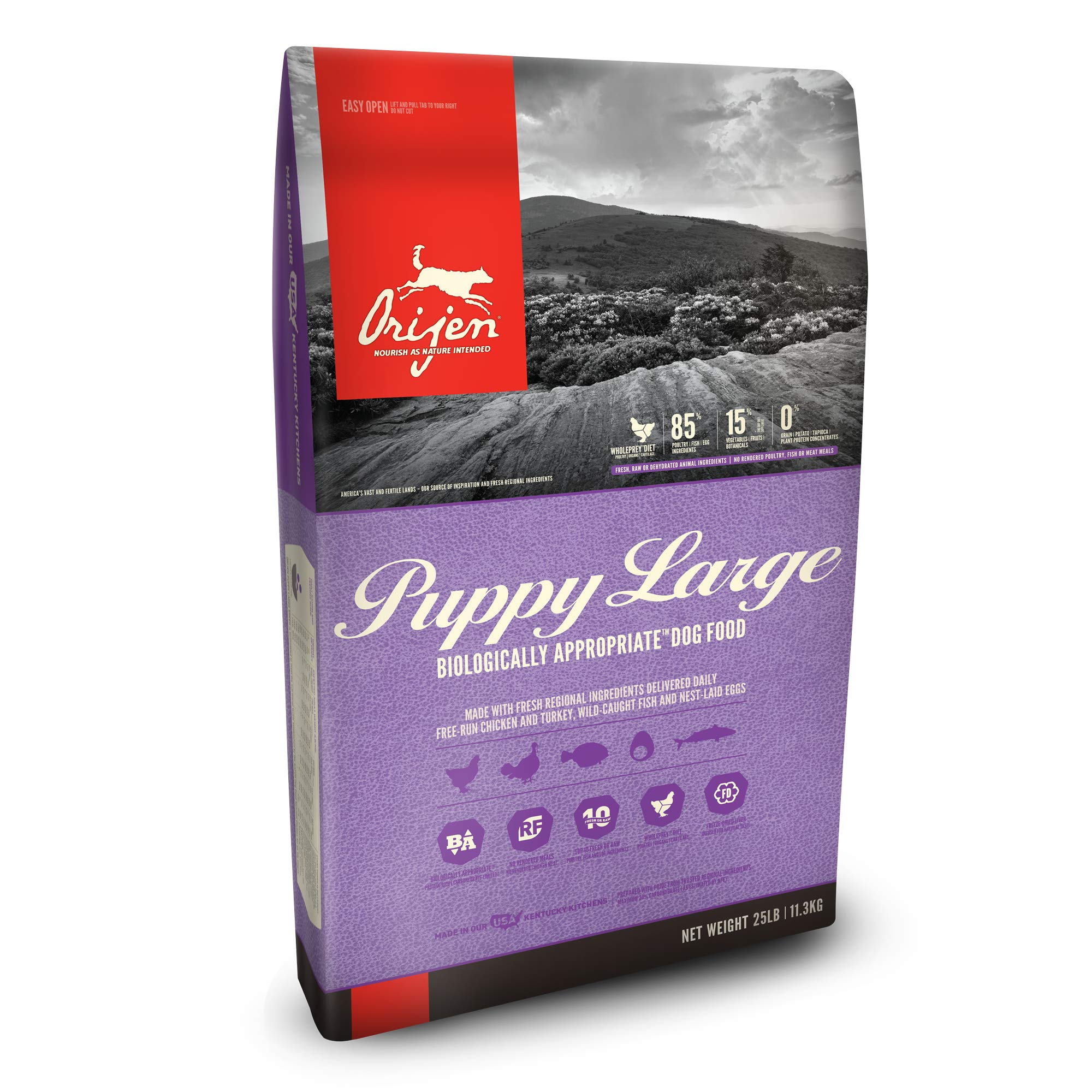 ORIJEN Dry Dog Food, Puppy Large, Biologically Appropriate & Grain Free