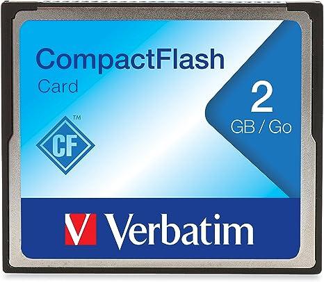 Amazon.com: Verbatim 2 GB Tarjeta de memoria CompactFlash ...
