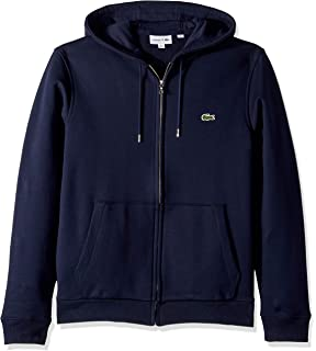 be848a946ba Lacoste Men's Long Sleeve French Terry Sweatshirt W/Hoodie Front Pockets
