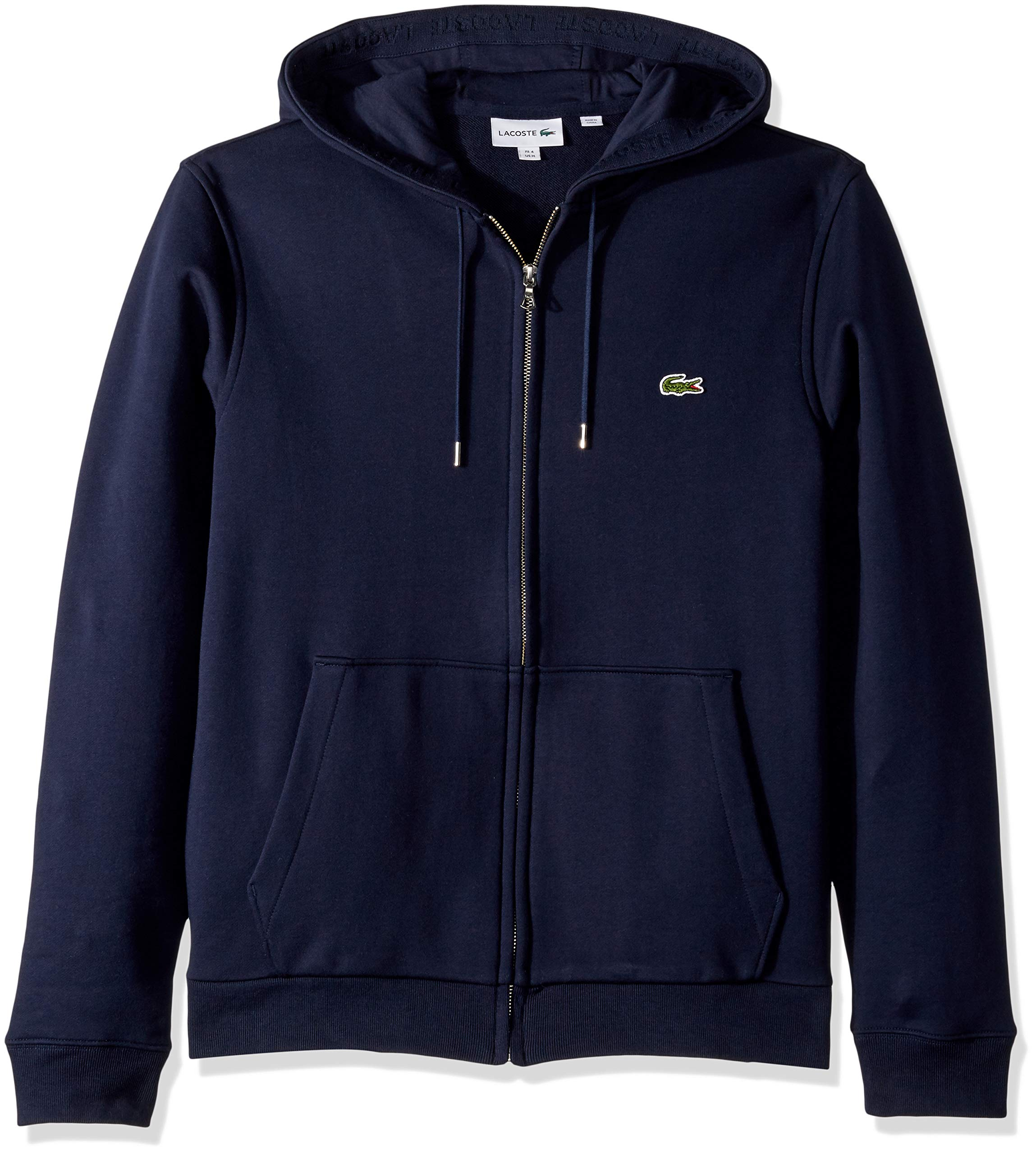 Lacoste Mens Long Sleeve French Terry Sweatshirt W//Hoodie Front Pockets