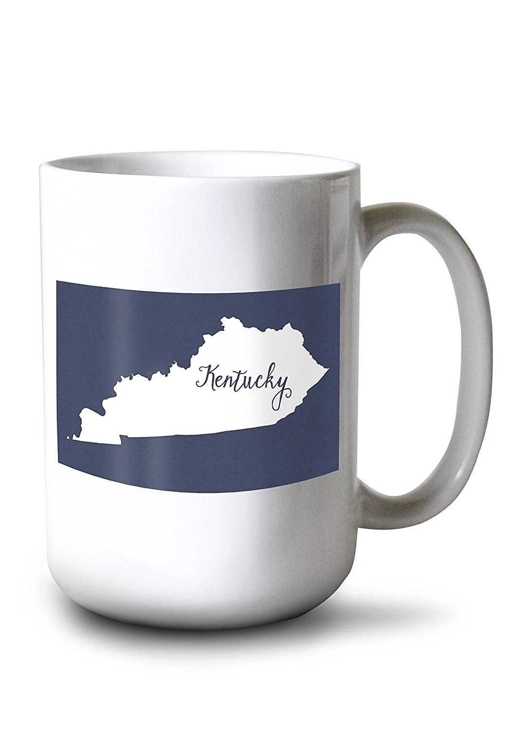 Kentucky – ホーム状態 – White On Navy 15oz Mug LANT-3P-15OZ-WHT-76899 B01I5K8T9K  15oz Mug