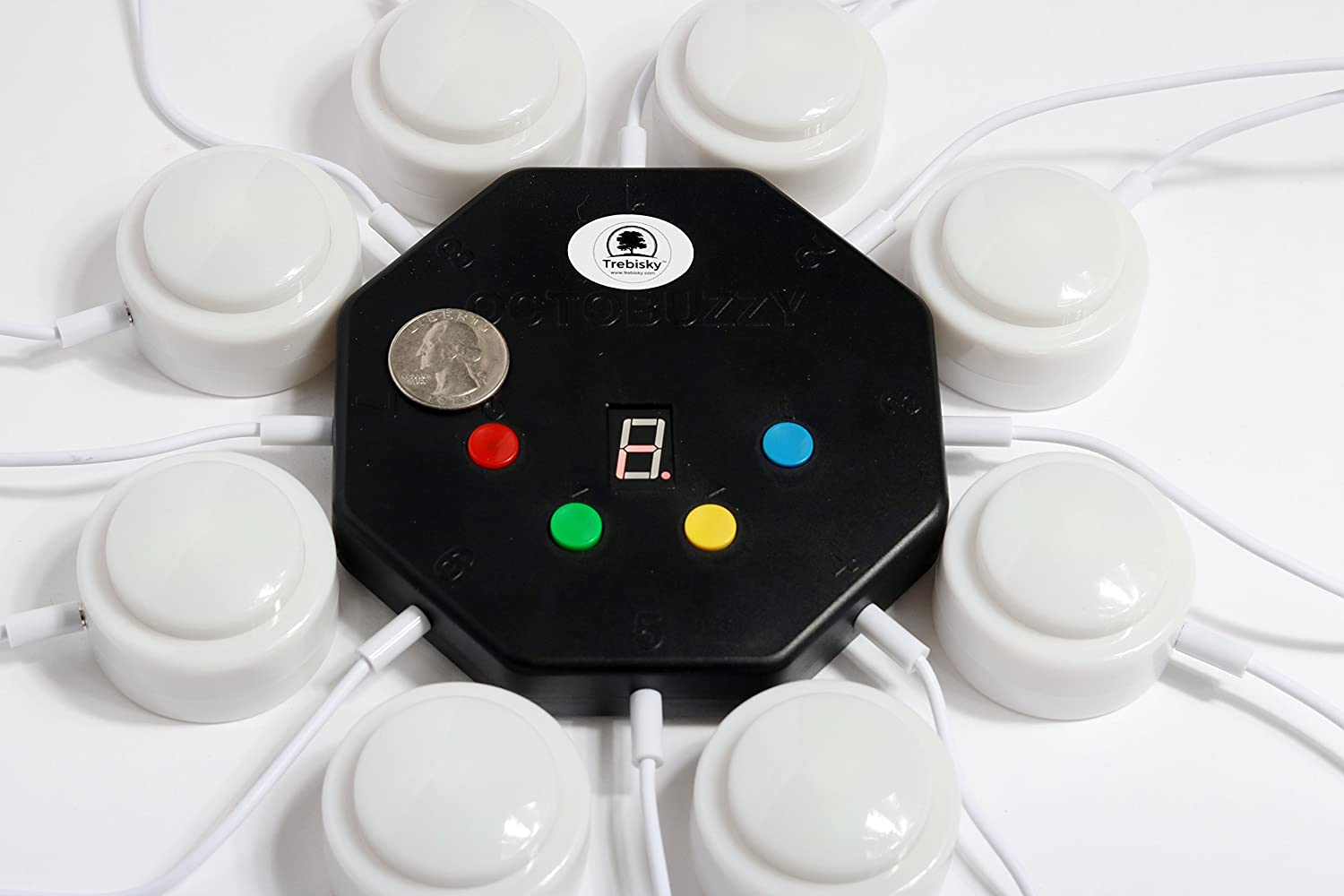 Trebisky Quiz Answer Game Buzzer Standalone System W Show Find Great Deals On Ebay For Led Light Buttons 8 Player 3ft Cables Whos First 2nd Gen Toys Games