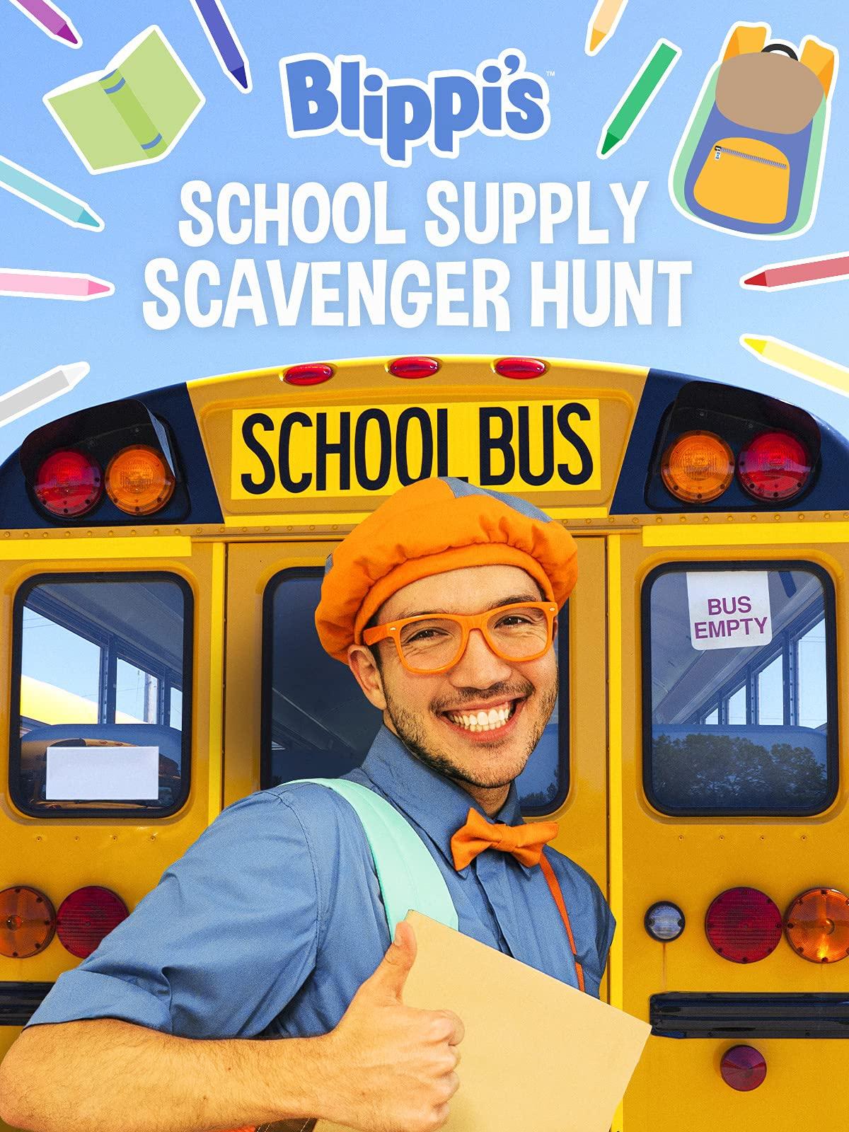 Blippi's School Supply Scavenger Hunt on Amazon Prime Video UK