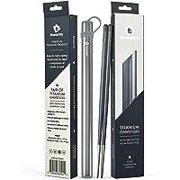 Chopsticks, 1 Pair of Titanium Chopsticks Ultra Lightweight Professional (Ti), Super Strong Healthy and Eco-Friendly 1…