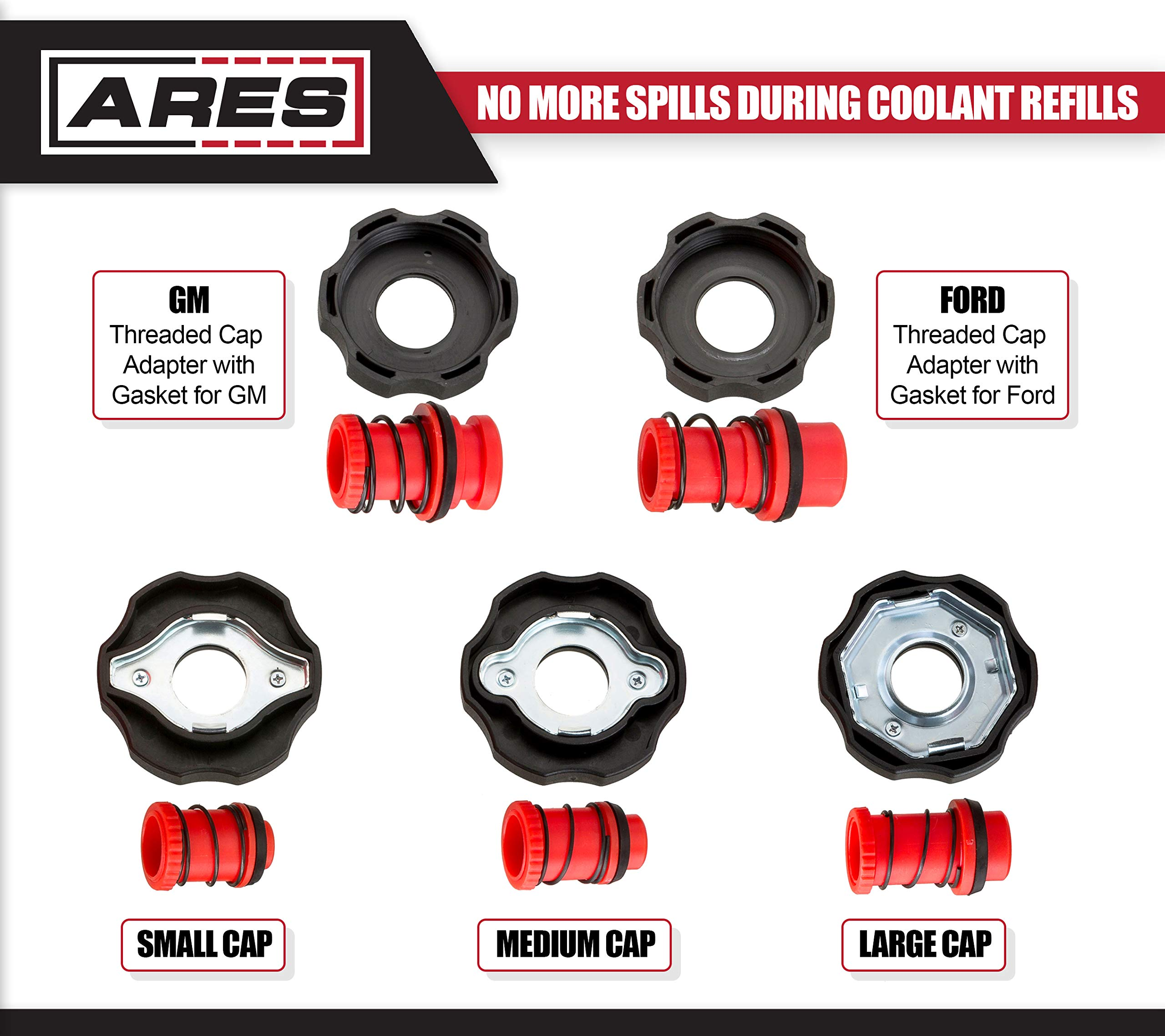 ARES 71502 | Spill Proof Coolant Filling Kit | Eliminates Trapped Air Pockets and Squeaky Belts Due to Overflow by ARES (Image #5)