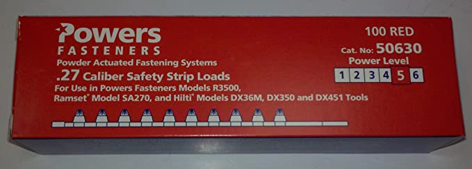 POWERS FASTENERS INC 50620 POWDER LOAD SAFETY STRIP 100 per Box