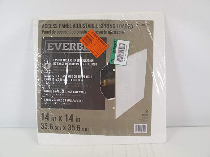 Amazon Com Everbil Access Panel Adjustable Spring Loaded 14 X 14 Home Kitchen