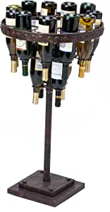 Cape Craftsmen Wrought Iron 15 Bottle Standing Wine Rack