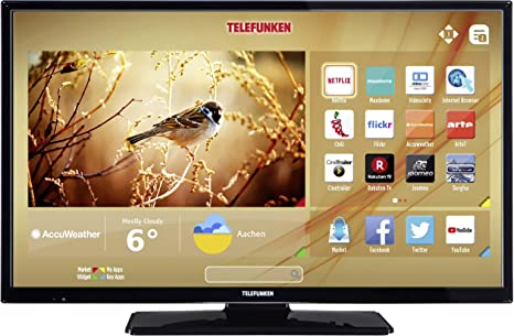 Telefunken LED-TV 122cm 48 Zoll B48F545B EEK A++ DVB-T2, DVB-C, DVB-S, Full HD, Smart TV, WLAN, CI+: Amazon.es: Electrónica